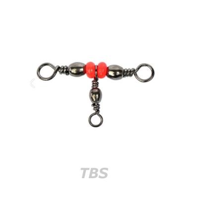 트리플 배럴 스위블  [50개 벌크]-T형 구슬 삼각 도래