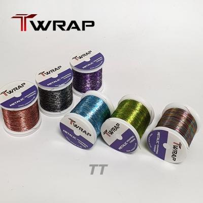 자드락 T-WRAP 투톤 메탈릭 래핑사 (TT) - A사이즈, 100m , 낱개판매
